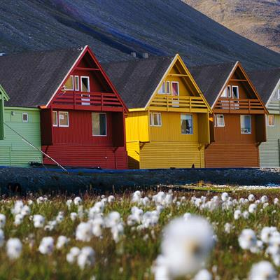Colorful houses in Longyearbyen